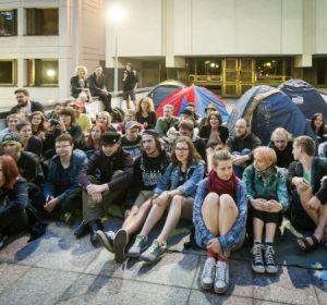 studentų demonstracija prie Vyriausybės 2016 06 23